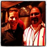 Photo of Jeff Dunham and me at an after party in Dallas.